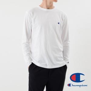 Champion チャンピオン ロング スリーブ Tシャツ メンズ 長袖 ロンT 無地 刺繍 BASIC ベーシック C3-J424|garakuta-ga