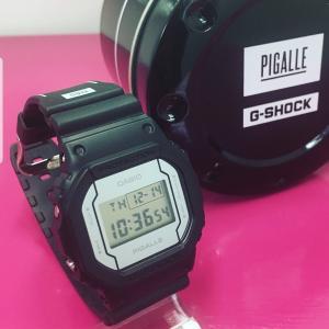 限定 [カシオ]CASIO 腕時計 G-SHOCK ジーショック PIGALLE タイアップモデル DW-5600PGB-1JR メンズ|garakuta-ga