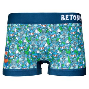 BETONES / ビトーンズ GODZILLA 限定コラボ メカゴジラ メンズ ボクサーパンツ アンダーウェア フリーサイズ ブルー|garakuta-ga