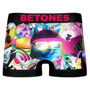 BETONES / ビトーンズ BETONES×MTV 001 メンズ ボクサーパンツ アンダーウェア フリーサイズ コラボ ブラック バレンタイン プレゼント|garakuta-ga