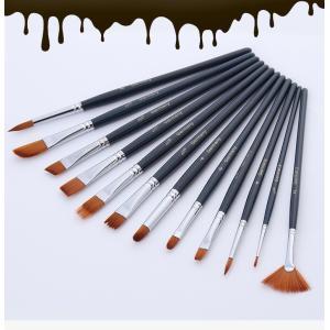 ドイツ向け絵筆◆油絵・アクリル・水彩用◆ナイロン筆 12本セット◆|garallyrenge