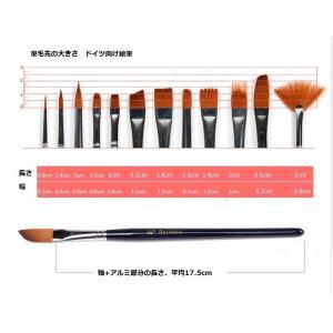 ドイツ向け絵筆◆油絵・アクリル・水彩用◆ナイロン筆 12本セット◆|garallyrenge|03