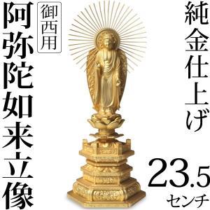 仏像 阿弥陀如来立像 浄土真宗 御西用 23.5cm