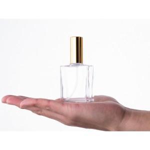 30ml平角瓶スプレー(金・銀)<遮光瓶 ガラス瓶  ビン 瓶  保存ビン 保存瓶>|garasubin