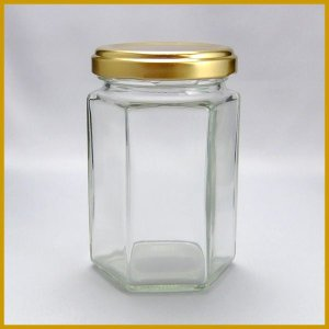 ガラス瓶 ジャム瓶 ガラス保存容器 S150-6角ST-56本セット- 150ml jam jar|garasubin