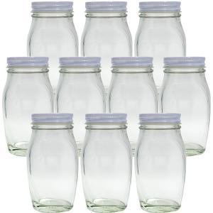 ガラス保存容器 食料瓶 ナメタケ120 120ml -10本セット- jar (47スクリューCAP/白)|garasubin