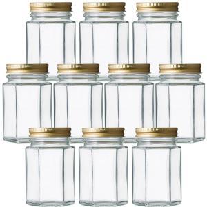 ガラス瓶 食料瓶 SH-150-6角ネジ 155ml 10本セット|garasubin