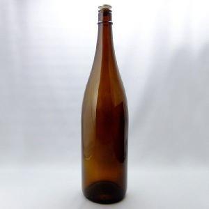 ガラス瓶 酒瓶 清酒1800-A(一升瓶)茶色 1800ml-3本セット- sake bottle|garasubin