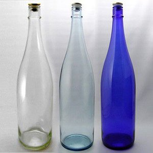 ガラス瓶 酒瓶 清酒1800-BLSET(一升瓶)ブルーセット 1800ml 3本組|garasubin