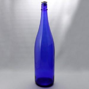 ガラス瓶 酒瓶 清酒1800-CBT(一升瓶)CBTブルー 1800ml|garasubin
