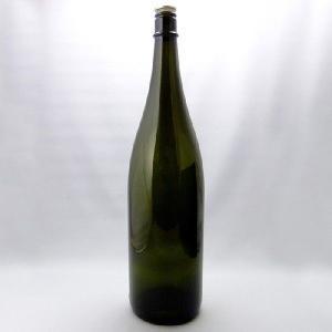 ガラス瓶 酒瓶 清酒1800-DS(一升瓶)ダークスモーク 1800ml-3本セット- sake bottle|garasubin