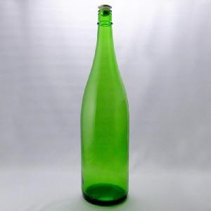 ガラス瓶 酒瓶 清酒1800-EG(一升瓶)Eグリーン 1800ml-3本セット- sake bottle|garasubin