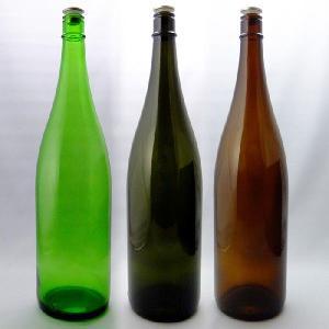 ガラス瓶 酒瓶 清酒1800-GLSET(一升瓶)グリーンセット 1800ml 3本組|garasubin