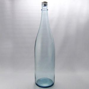 ガラス瓶 酒瓶 清酒1800-LB(一升瓶)Lブルー 1800ml|garasubin
