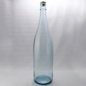 ガラス瓶 酒瓶 清酒1800-LB(一升瓶)Lブルー 1800ml -3本セット-sake bottle|garasubin