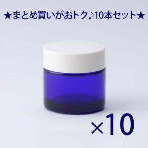 ガラス瓶 クリーム瓶 30g 白CAP C30白キャップ -10個セット-|garasubin
