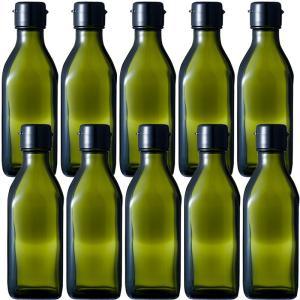 ガラス瓶 ドレッシング・タレ瓶 調味200角-HC-DS 200ml -10本セット-|garasubin