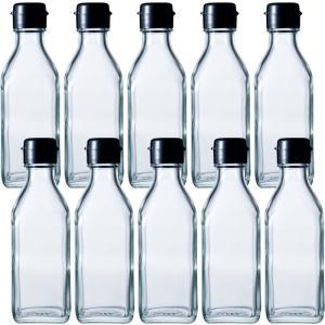 ガラス瓶 ドレッシング・タレ瓶 調味200角-HC-F 200ml -10本セット-|garasubin
