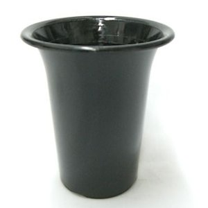 洋蘭プラ鉢 4号 1個 黒ラン鉢 プラ鉢 12cm 薔薇 苗 深鉢 キンリョウヘン 金稜辺