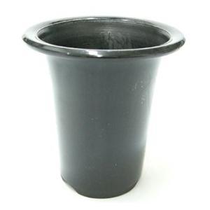 洋蘭プラ鉢 5号 1個 黒ラン鉢 プラ鉢 15cm 薔薇 クリスマスローズ 深鉢