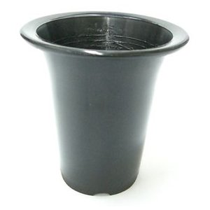 洋蘭プラ鉢 5.5号 1個 黒ラン鉢 プラ鉢 16.5cm 薔薇 クリスマスローズ 深鉢