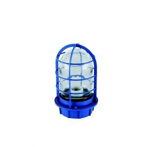 マリンランプ 船舶型照明 LEDカラーデッキライト IS-50BC-LEDC (青・クリアガラス)|garden-fontana