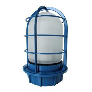マリンランプ 船舶型照明 LEDカラーデッキライト IS-50BW-LEDC (青・フロストガラス)|garden-fontana