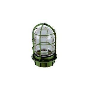 マリンランプ 船舶用照明 LEDカラーデッキライト IS-50GC-LEDC (濃緑・クリアガラス)|garden-fontana
