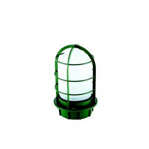 マリンランプ 船舶型照明 LEDカラーデッキライト IS-50GW-LEDC (濃緑・フロストガラス)|garden-fontana