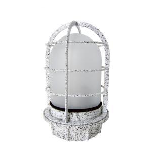 マリンランプ 船舶型照明 LEDカラーデッキライト IS-50MW-LEDC (御影石調・フロストガラス)|garden-fontana