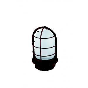 マリンランプ 船舶型照明 LEDカラーデッキライト IS-50TW-LEDC (赤錆調・フロストガラス)|garden-fontana