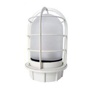 マリンランプ 船舶型照明 LEDカラーデッキライト IS-50WW-LEDC (オフホワイト・フロストガラス)|garden-fontana