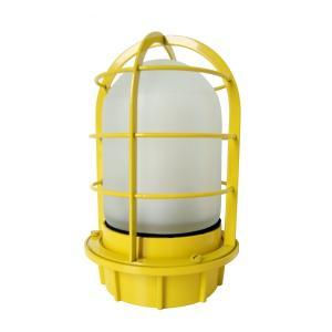 マリンランプ 船舶型照明 LEDカラーデッキライト IS-50YW-LEDC (黄・フロストガラス)|garden-fontana