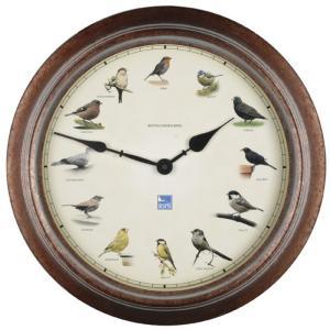 屋外でも使用可能 ガーデンクロック SE-13301 かわいい鳥の時計 (ブラウン)|garden-fontana