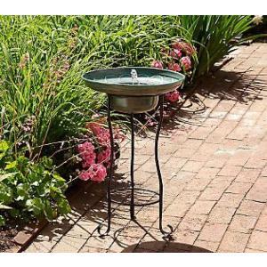 簡単設置の噴水 ソーラーファウンテン バードバス SS-20741 ドーセット|garden-fontana