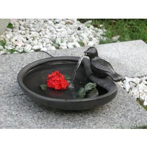 ソーラーバードバス SS-21300 グレイ |garden-fontana