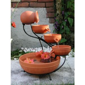 水音が楽しい小滝 ソーラーカスケード ファウンテン SS-23900 (ナチュラル)|garden-fontana