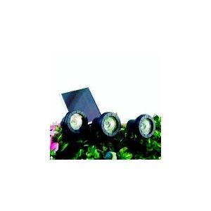 設置が簡単 3灯スポットライト ソーラーライト トリオスポット SS-32800G (3灯タイプ) garden-fontana