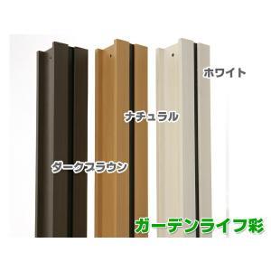 ウッディープラフェンス用支柱 高さ180cm用 MNO-P01W /MNO-P01N/MNO-P01D 樹脂製|garden-life-sai|02