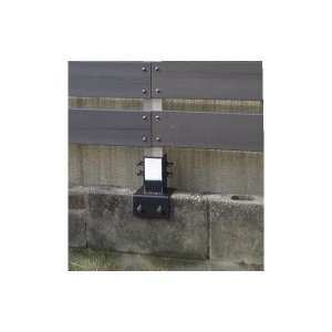 ブロック用金具 15cm用 〜ウッディプラフェンス・ブロック用フェンス共通金具〜MNO-P05 ウッディープラ柱用金具15cmブロック用|garden-life-sai