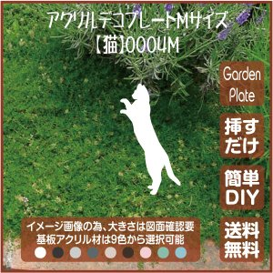 猫 ガーデンプレート 107LSST0004M 150×211mm ねこ 園芸プレート アレンジメント用品 雑貨 ピック オブジェ デコレーション マスコット|garden-plate