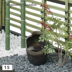 水鉢 ビオトープ/壷雫 15/TSK-15 /和風/メダカ/スイレン鉢/直送・代引不可|garden
