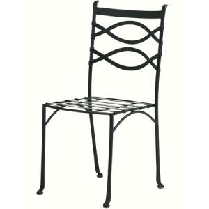 ガーデンチェア スチール製/ アルダビストロチェアー(クッション付) AXBC-0230WC /椅子/ダイニングチェア/おしゃれ/庭 garden