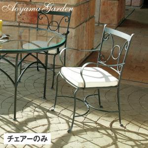 ガーデンチェア スチール製/ ベガアームチェアー(クッション付) AXAC-0260WC /椅子/ダイニングチェア/おしゃれ/庭 garden