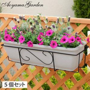 プランターフォルダー ハンギング/ボックスホルダー650プランター用 ブラック 5個セット /NPM-BH 1/5S/庭/園芸用品|garden