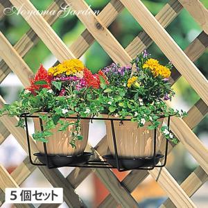 プランターフォルダー ハンギング/プラントホルダー  ダブル(小) ブラック 5個セット /NPM-PH4S/庭/園芸用品|garden