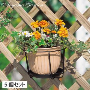 プランターフォルダー ハンギング/プラントホルダー シングル(大) ブラック  5個セット /NPM-PH5L/庭/園芸用品|garden