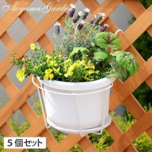 プラントホルダー シングル(大)ホワイト 5個セット/NPM-PH5LW|garden