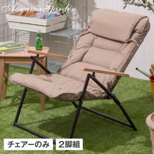 ガーデンチェア 折りたたみ/ キャリー リクライニングシングルローソファ 2脚組 IGF-09C/2S /ベランダ/バルコニー/おしゃれ/椅子 garden