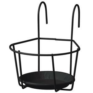 プランターフォルダー ハンギング/プラントホルダー シングル(小) ブラック 5個セット /NPM-PH5S/5S/庭/園芸用品|garden